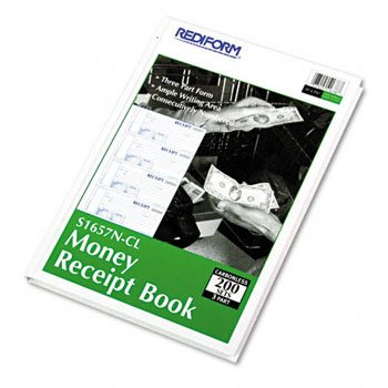 Rediform® Durable Hardcover Carbonless Numbered Money Receipt Book BOOK,RCPT,MONEY,TRP200/ST (Pack of4) by REDIFM