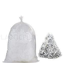 Plasticplace 10 Gallon Clear Shredder Bags │ Compatible Most Paper Shredders 100 Count