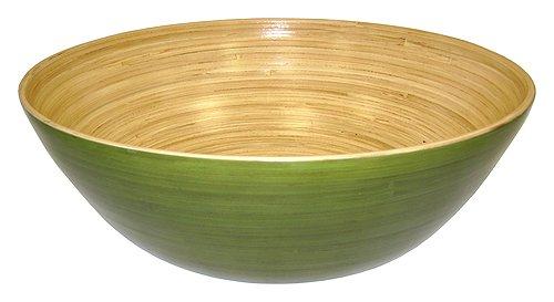 (Simply Bamboo BBC16 Glossy Celadon Green Bamboo Bowl, 16 x 16 x 5.5 )