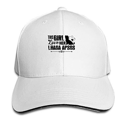 Baseball Cap This Girl Loves Lhasa Apsos Dad Hat Peaked Flat Trucker Hats Adjustable for Men Women ()