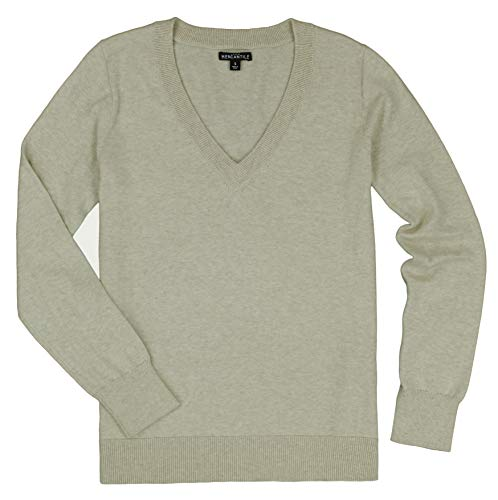 J. Crew – Women's – Cotton V-Neck Sweater (Multiple Colors (Small, Heather Natural)