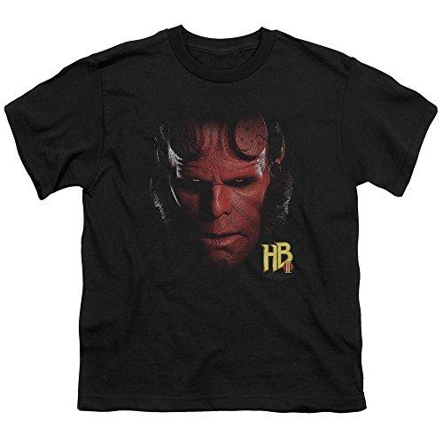 Hellboy Ii Hellboy Head Unisex Youth T Shirt for Boys and Girls, X-Large Black