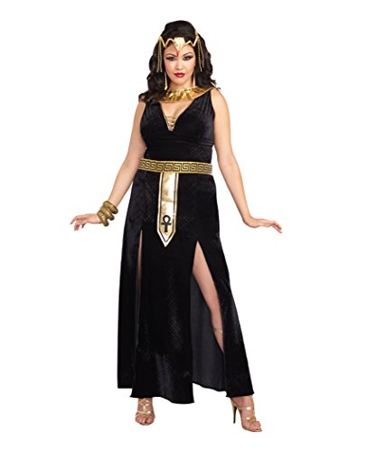 Dreamgirl Women's Plus-Size Exquisite Cleopatra Costume, Black/Gold, 3X/4X -