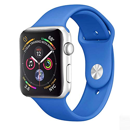 SG Correa Deportiva Extensible Sport Banda Silicon de Silicon Colors para Apple Watch 38mm 40mm 42mm 44mm Generico iwatch...