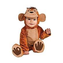Rubies Costume Cuddly Jungle Funky Monkey Romper Costume, Tan, 12-18 Months
