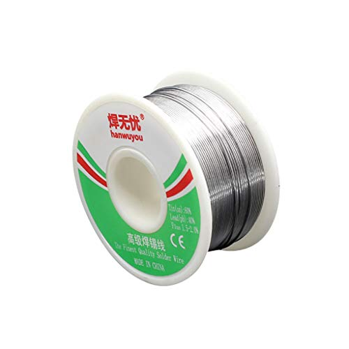 60-40 Tin Lead Rosin Core Solder Wire for Electrical Solderding 1.2mm 100g ()