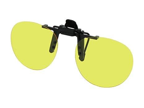 49b95509a96 Amazon.com  Sunglass Rage Round Polarized Flip up Clip on Sunglasses (Black  Frame Polarized Amber Lenses