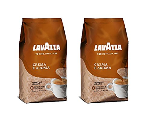 Lavazza Crema e Aroma Whole Bean Coffee Blend, Medium Roast, 2.2-Pound Bag (Pack of 2)