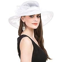 SAFERIN Women's Organza Church Derby Fascinator Bridal Cap British Tea Party Wedding Hat