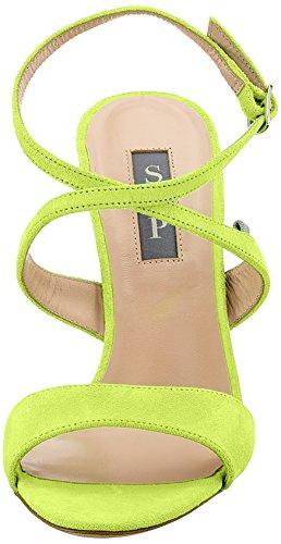SJP Suede Sandali alla Jessica Caviglia Sarah Caution con Parker Cinturino Elektra Yellow Giallo by Donna g6rwXg