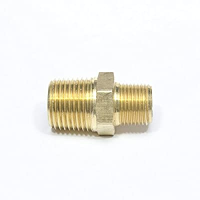 """FasParts 3/4"""" Male NPT to 1/2"""" Male NPT MPT MIP Hex Pipe Nipple Brass Fitting Fuel / Air / Water / Boat / Gas / Oil WOG"""