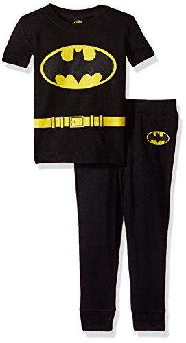 DC Comics Infant Baby 'Batman Justice League' Costume Cotton Snug Pajama Set, black, 18MO for $<!--$17.36-->
