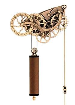 Abong Laser-Cut Mechanical Wooden Pendulum Clock - 3D Clock Puzzle Model Kit - DIY Wooden Clock Kit