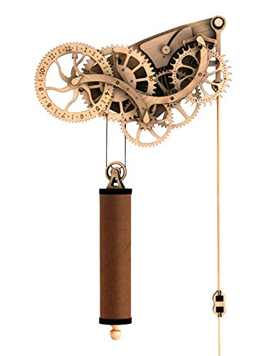 (Abong Laser-Cut Mechanical Wooden Pendulum Clock - 3D Clock Puzzle Model Kit - DIY Wooden Clock Kit)