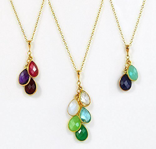 amazon com personalized birthstone mother s necklace family
