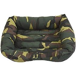 Cama para perro y gato Camuflaje Verde 100*80cm. D