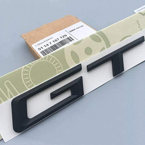 Dodoro M Trunk Decal emblem stickers Silver Black Rear Badge X1 X3 X5 X6 GT Logo Original Size for BMW X Series Black, X1