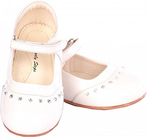 Poshtotz, Scarpe primi passi bambine Bianco bianco