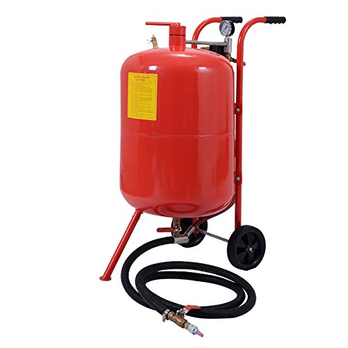 Goplus 20 Gallon Portable Air Sandblaster Sand Blaster Air Media Abrasive Blasting - Blaster Kit Soda