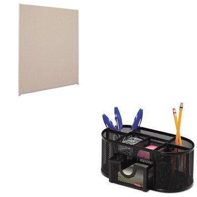 KITBSXP6048GYGYROL1746466 - Value Kit - Basyx Vers Office Panel (BSXP6048GYGY) and Rolodex Mesh Pencil Cup Organizer (ROL1746466) by Basyx