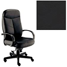 Office Master BC Collection BC99 Ergonomic Executive Chair - Fixed Loop Armrests - Black Top-grain Leather PLUS Free Ergonomics eBook