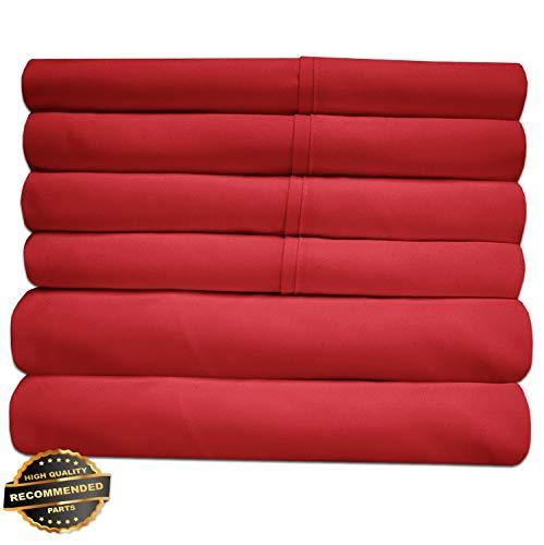 Gatton New Premium Luxury 6 Piece Bed Sheet Set Deep Pocket Egyptian Soft 1500 Thread Count   LINENIENHM-182012025 RV Short Queen (Pillows Toss Kohls)