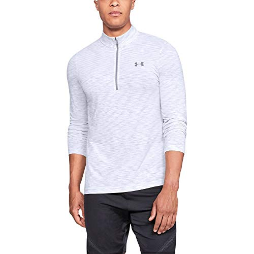 Under Armour Men's Siphon 1/2 Zip Sweatshirt, White (100)/Steel, X-Large