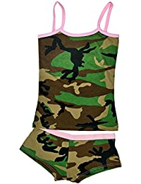 Women's Camouflage Booty Short and Tank Top Set