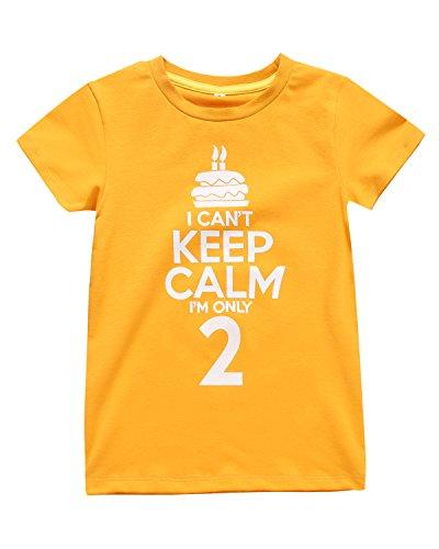 Color Changeable Little Boys Girls Funny 2nd Birthday Gift Cake T-Shirt (Orange) ()
