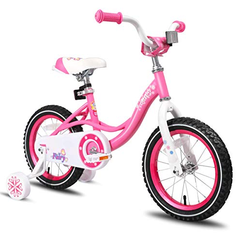 JOYSTAR 14 Inch Kids Bike with Training Wheels for 3 4 5 Years Old Girls, Toddler Cycle for Early Rider, Child Pedal Bike, Pink
