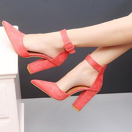 pour Daim Sandales en Soire Femmes XUE Une Boucle Chaussures Lady Chaussures Shoe Hauts Party Talons Bottes Travail amp; Affaires Formel Robe Pointues Pointu Grande Chaussures d't Taille Iwqfp5