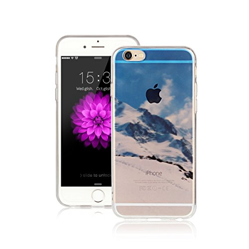 Per Apple iPhone 6 / iPhone 6S (4.7 Pollici) Custodia ZeWoo® Custodie in TPU silicone Case Cover - AK019 / Montagna della neve