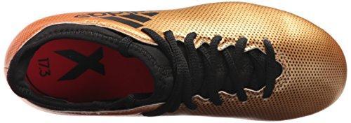 Adidas Pojkar X 17,3 Fg J Fotboll Sko, Svart / Sol Röd / Sol Orange, 12 Medel Oss Litet Barn Taktil Guld / Core Svart / Sol Röd