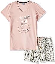 Conjunto de pijama PIJAMA MM COM SHORTS/RF 040088 PZAMA Feminino