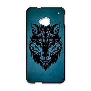 Wolf Face HTC One M7 Cell Phone Case Black RDW