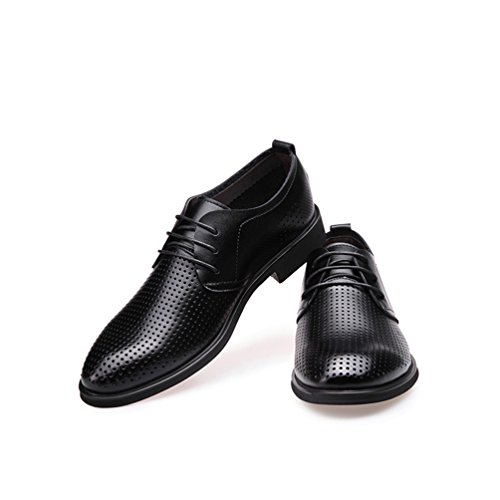 Sintético Zapatos de Feidaeu Negro Hombre Material tfwqqPBA