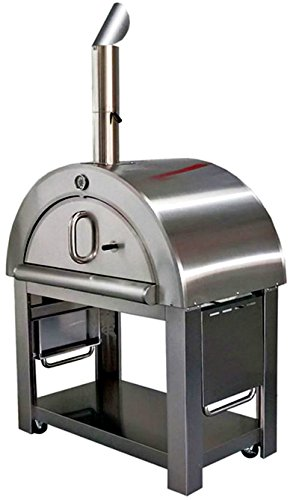 XL Pizza Oven Outdoor Artisan Wood-Fired Stone Bake 44 Inch W Commercial Stainless Steel - Cooking Accessories - Cover - Model SYM02P