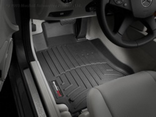 WeatherTech Custom Fit Front FloorLiner for Mercedes-Benz C300/C350/C63 (Black)