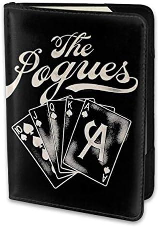 POGUES ポーグス ACE パスポートケース メンズ 男女兼用 パスポートカバー パスポート用カバー パスポートバッグ 小型 携帯便利 シンプル ポーチ 5.5インチ高級PUレザー 家族 国内海外旅行用品