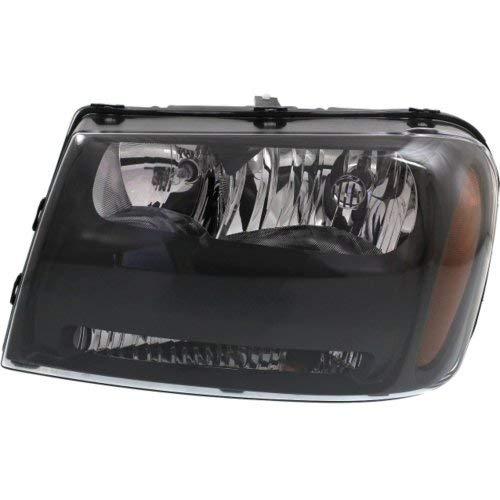 Headlight Compatible with CHEVROLET TRAILBLAZER 2006-2009 LH Composite Assembly Halogen LT ()