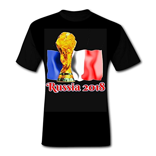 Yind1tt 2018 Football World Cup France Trophy T Shirt Fan Flag T-Shirts Tshirt Short Sleeve Tee for Men XL - France Trophy