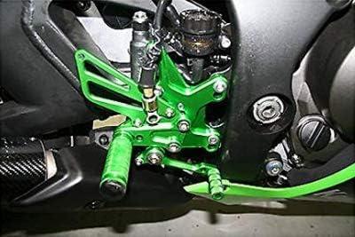 JFG RACING Moto Rearsets CNC r/églable Piquets de Pied arri/ère Repose-Pieds pour Kawasaki Z1000/ABS 2011/2012/2013/2014/2015/2016