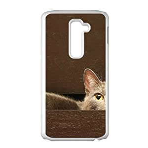 Cute Cat White Phone Case for LG G2