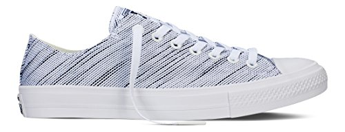 Converse Mens All Star Hero Chuck II Low White/Black/White Sneaker - 10 Men - 12 Women