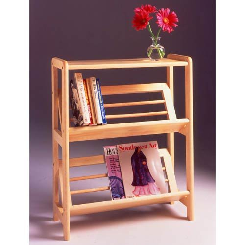 Winsome Wood 2-Tier Bookshelf, Natural - 2 Shelf Natural Wood
