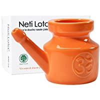 Lota de porcelana esmaltada 400 ml Om, Orange Safran