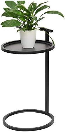 Koel JCNFA BIJZETTAFEL Sofa Side Table Iron Round kleine ronde tafel Tray met hengsel, for Buiten, Familie  69PDYhQ