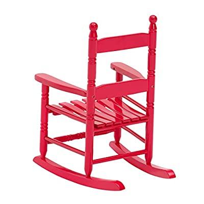 Jack-Post KN-10R Classic Child's Porch Rocker Red : Patio Rocking Chairs : Garden & Outdoor
