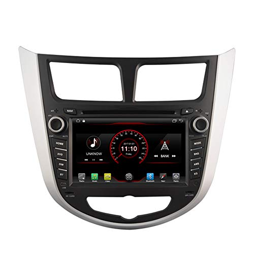 Autosion Android 8.1 Car DVD Player GPS Stereo Head Unit Navi Radio Multimedia WiFi for Hyundai Accent Verna 2011 2012 2013 2014 2015 2016 2017 Support Steering Wheel Control