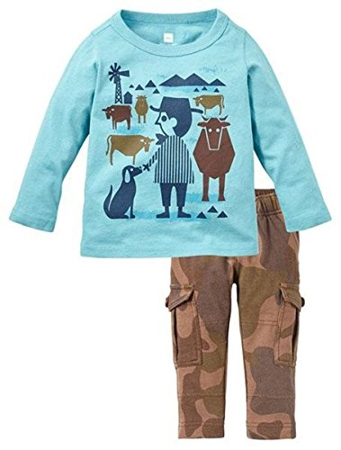 Tea Collection Baby Boys' Ranchero Set - Multicolor - 6-12 Months (Collection Apparel Infant)